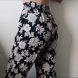 Brandy Melville Floral Flowy Pants